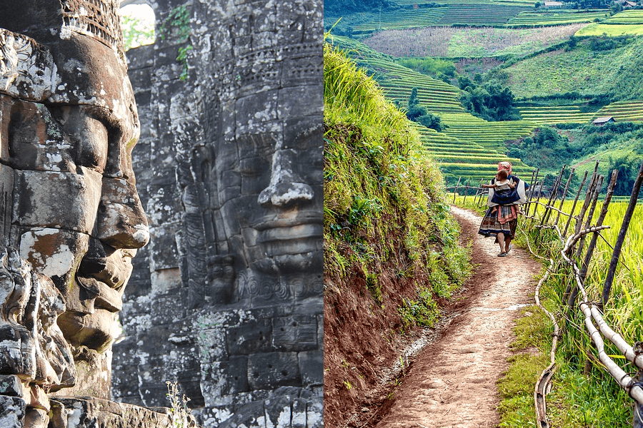 Heerlijk eten, uitgestrekte rijstvelden en het wereldwonder van Angkor.