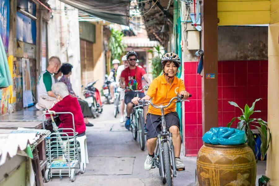 Een fietstour door Bangkok, Thailand