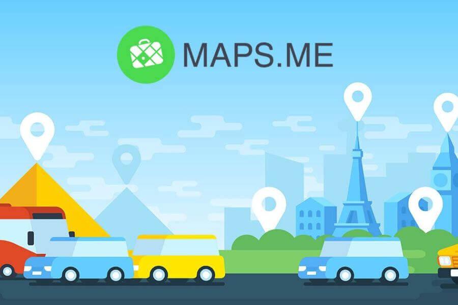Maps.me, een eenvoudig navigatie app die je zonder internet kunt gebruiken.