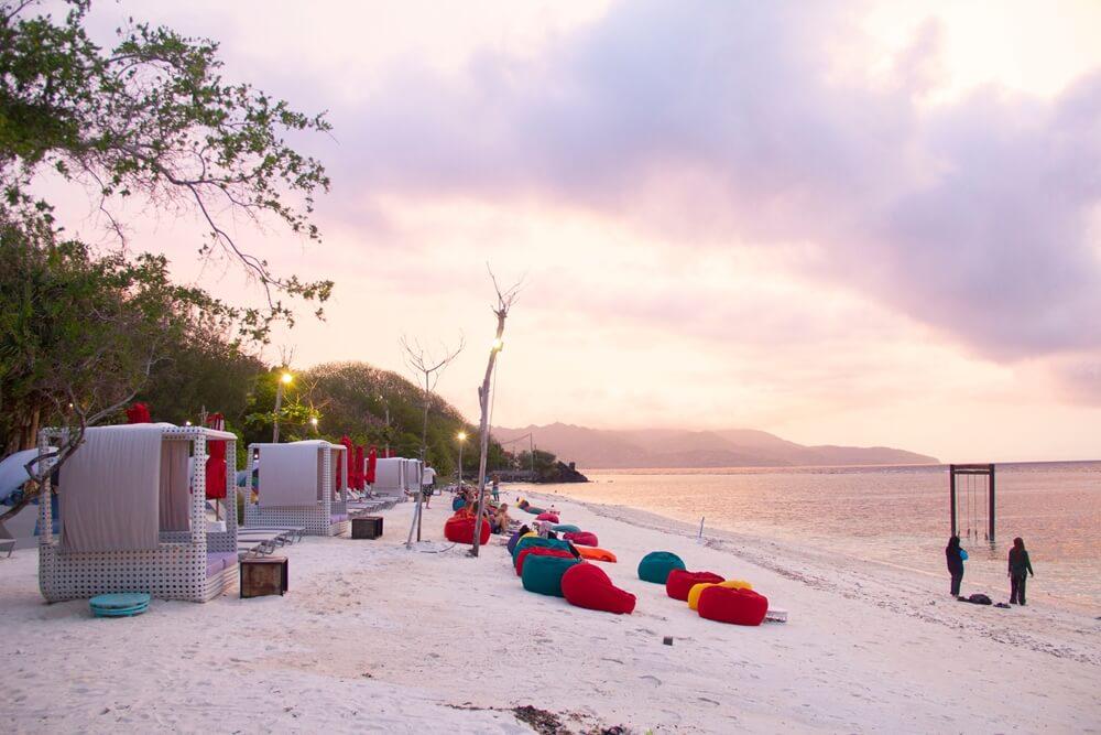 Gili Trawangan is het grootste eiland van de Gili's