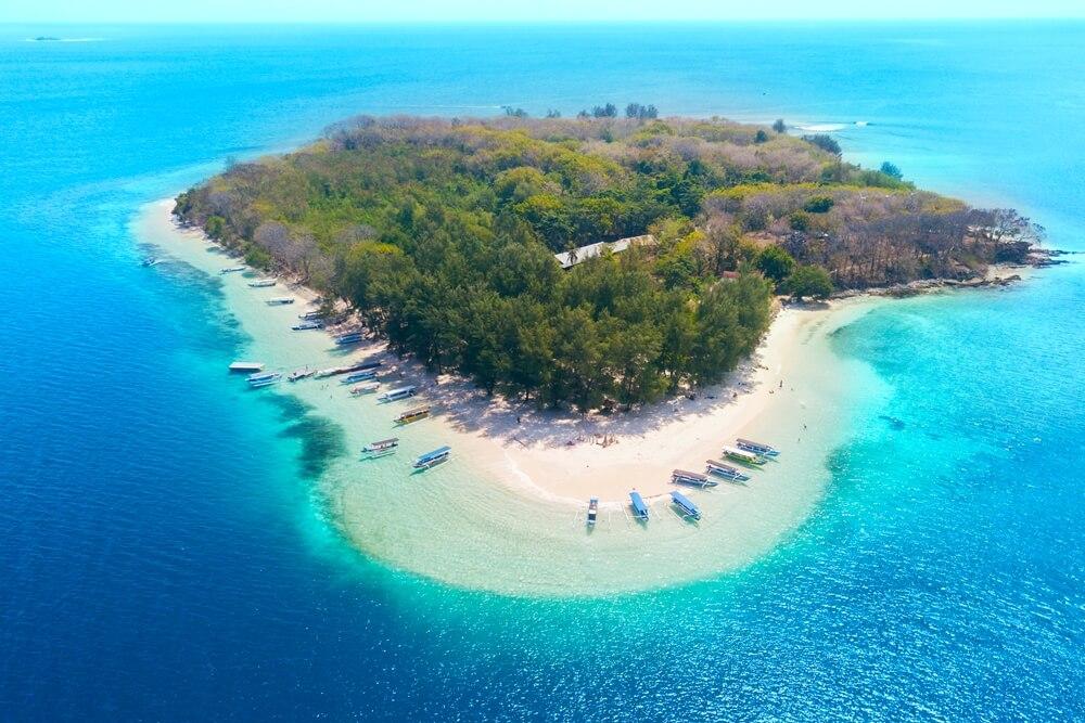Het adembenemend mooie Gili Nanggu, voor de kust van Lombok