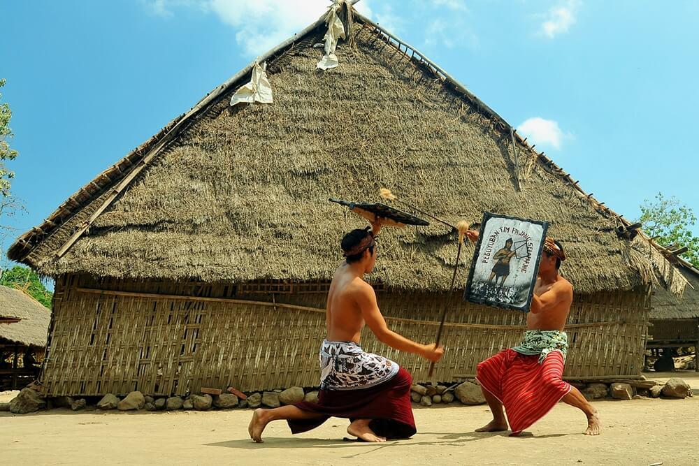 Traditioneel Peresean gevecht op Lombok