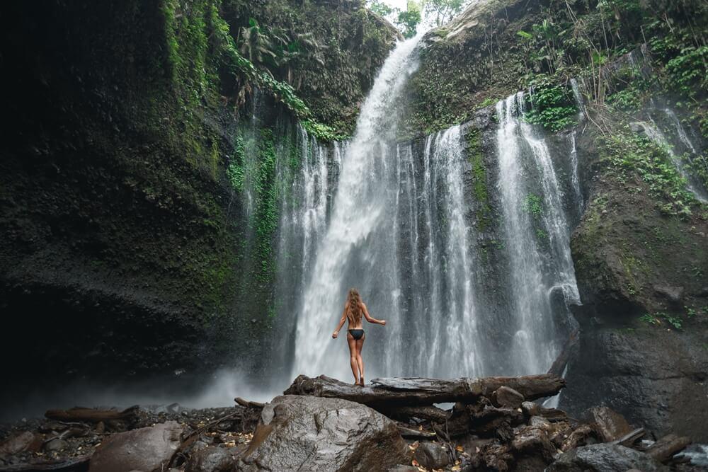 De prachtige Senaru Waterval op Lombok