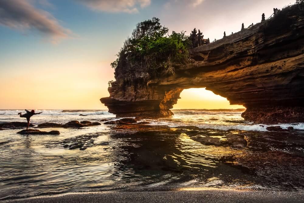 De Pura Batu Bolong tempel bij Sengigi, Lombok