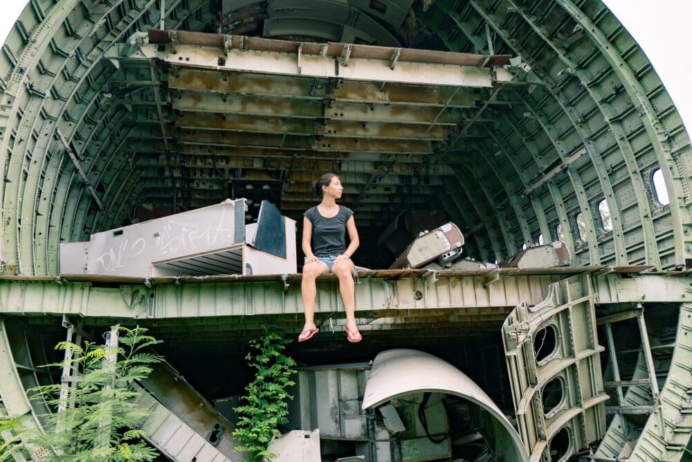 Mystieke plek in Bangkok het kerkhof voor vliegtuigen