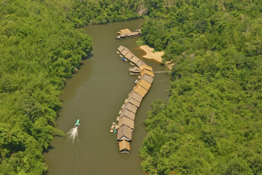 Thailand Kanchanaburi River Kwai Jungle Rafts Hotel 15