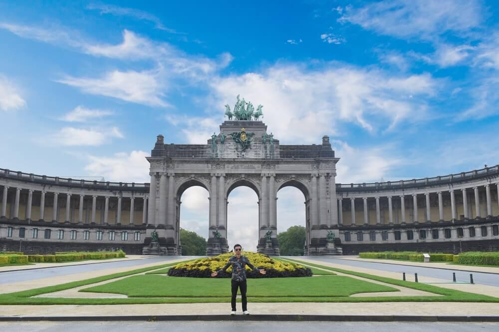 Belgie Parc du Cinquantenaire in Brussel