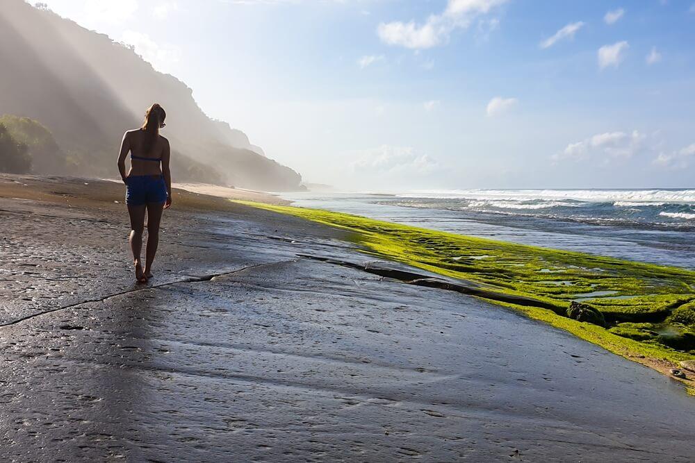 Indonesie Bali Uluwatu Beaches Nyang Nyang beach