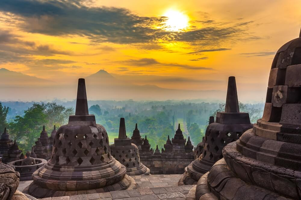 Indonesie Java Borobudur tempel