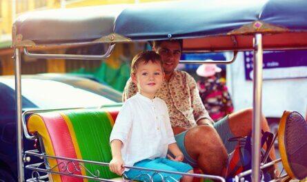 Thailand Bangkok in de tuktuk