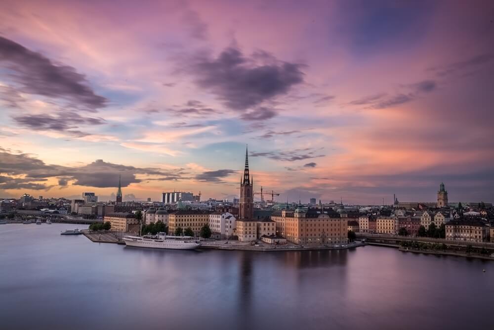 Zweden Mariaberget in Stockholm